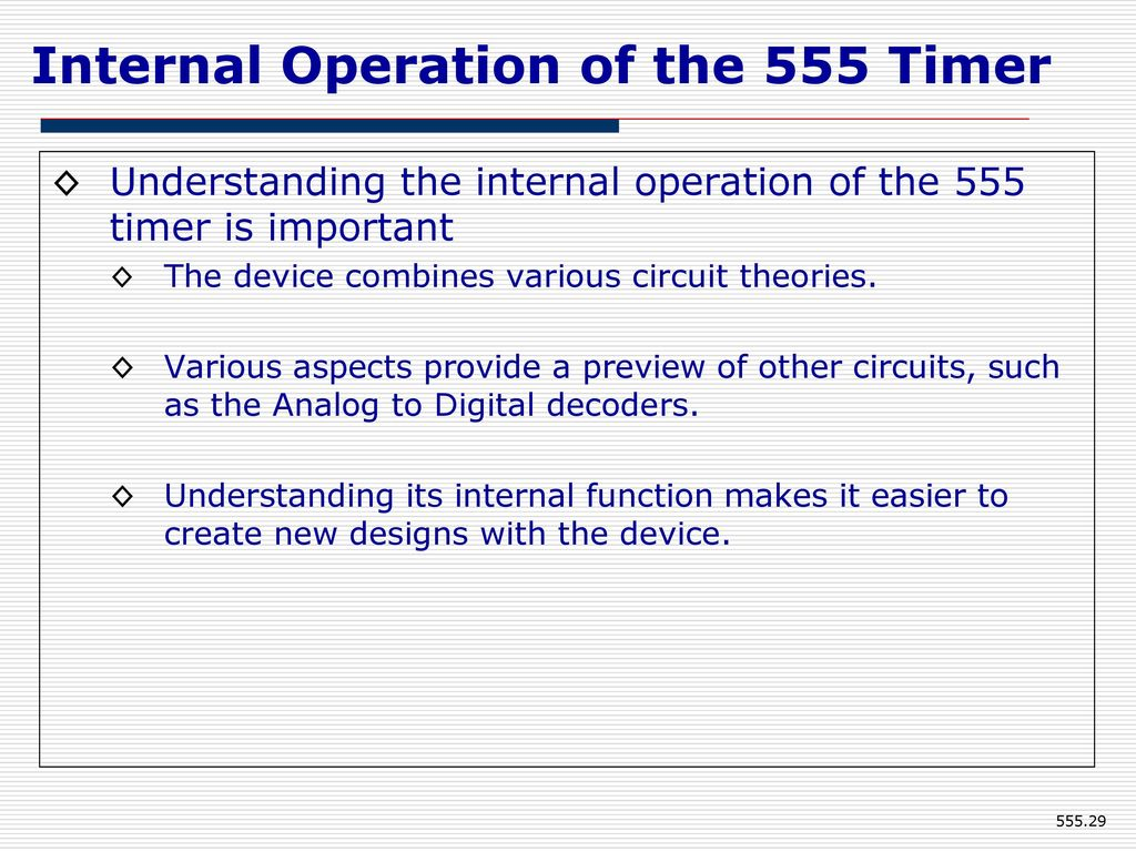 555 Timer Eee Department Kumpavat Harpal Ppt Download Special Function Circuits Lm555 Internal Operation Of The