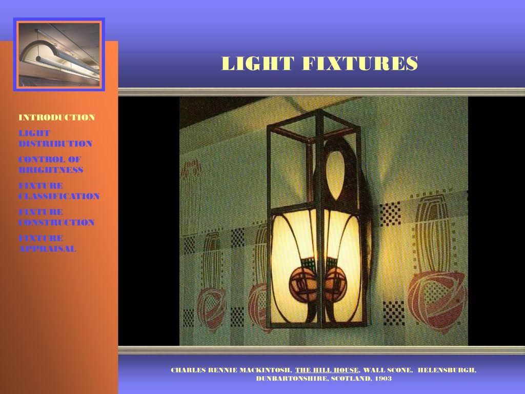 Light fixtures introduction light distribution control of brightness