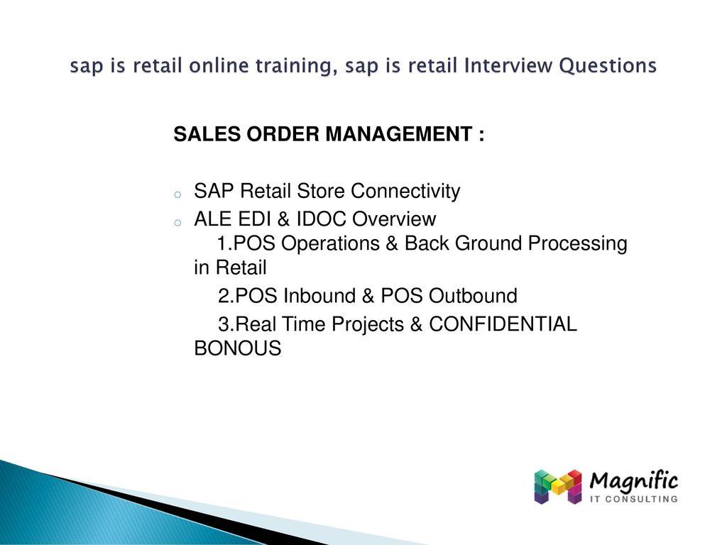 sap is retail online training, sap is retail Interview