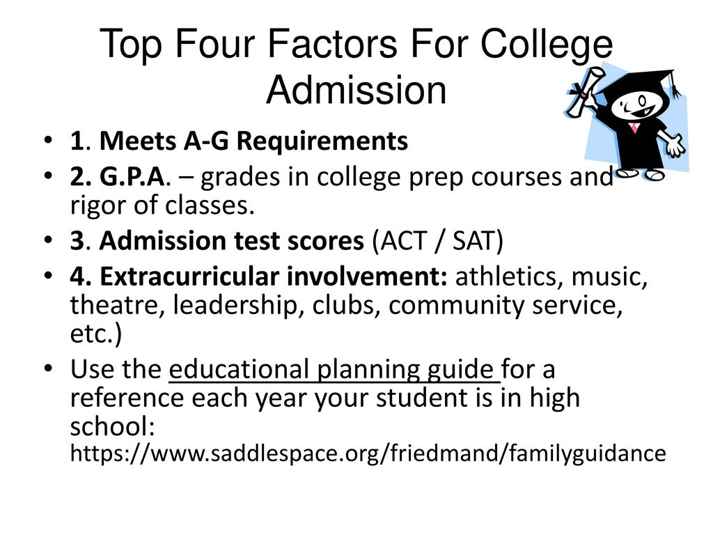 Top Four Factors For College Admission