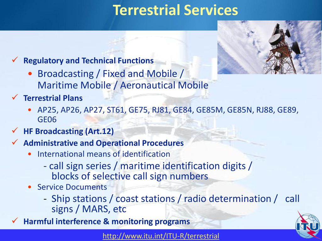 ITU Overview Presented by : ITU (International Telecommunication