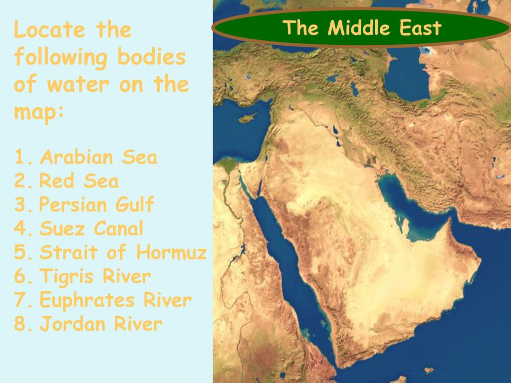 Middle East ...