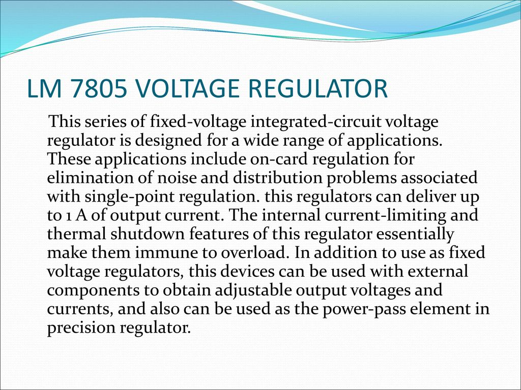 Microcontroller Based Speedometer Cum Odometer Ppt Download 7805voltageregulator Lm7805 Voltage Regulator Circuit Lm 7805