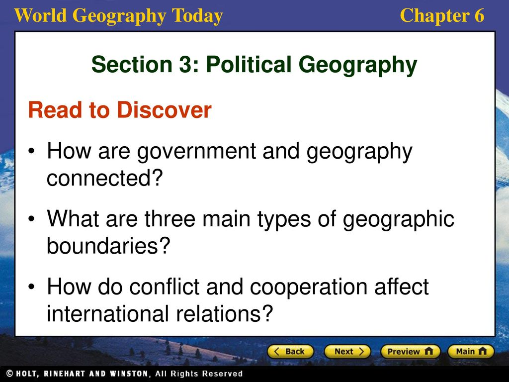 geography politics and international relations