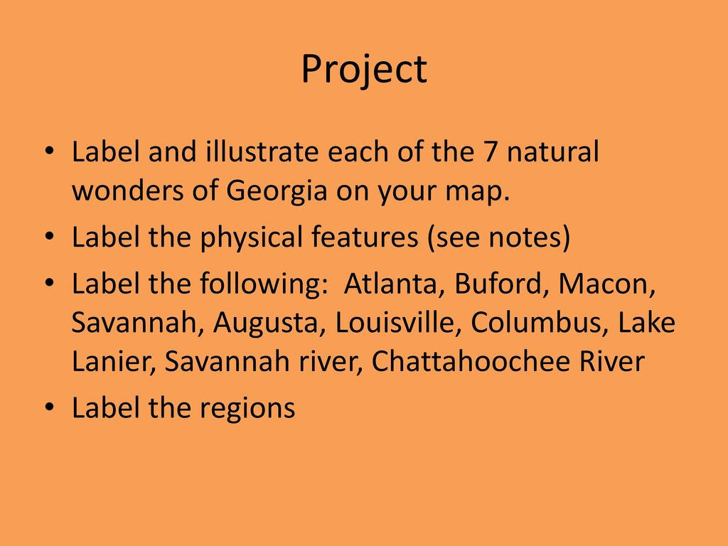 Map Of Georgia 7 Wonders.Georgia S Climate Georgia S Mild Climate Effects The State In Many
