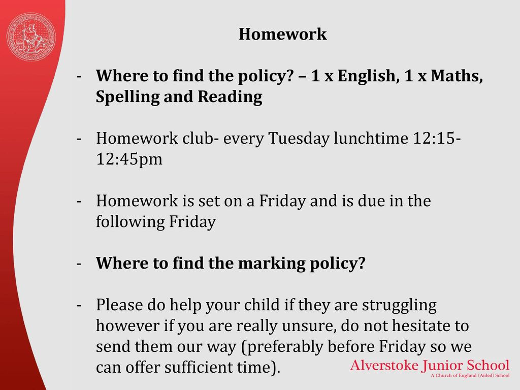 alverstoke junior school year 4 homework