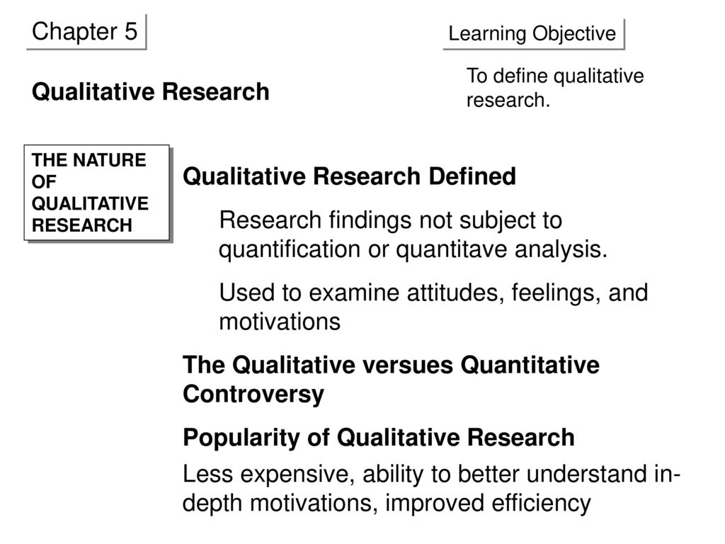 chapter 5 qualitative research - ppt download