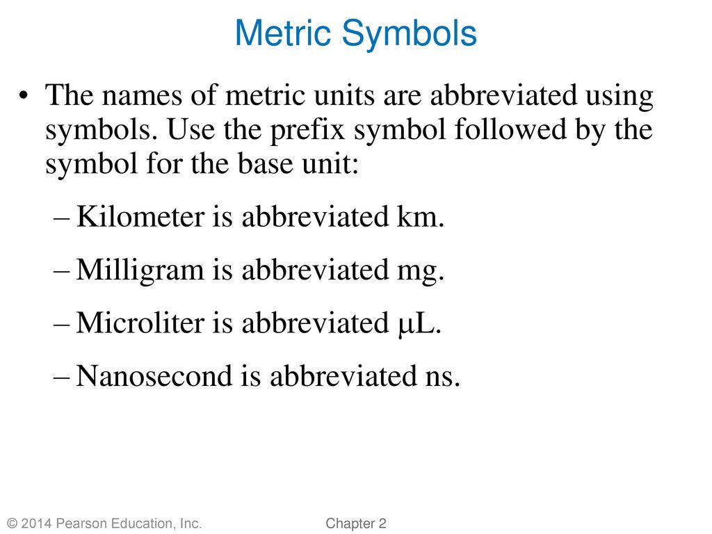 Chapter 2 The Metric System By Christopher G Hamaker Ppt Download