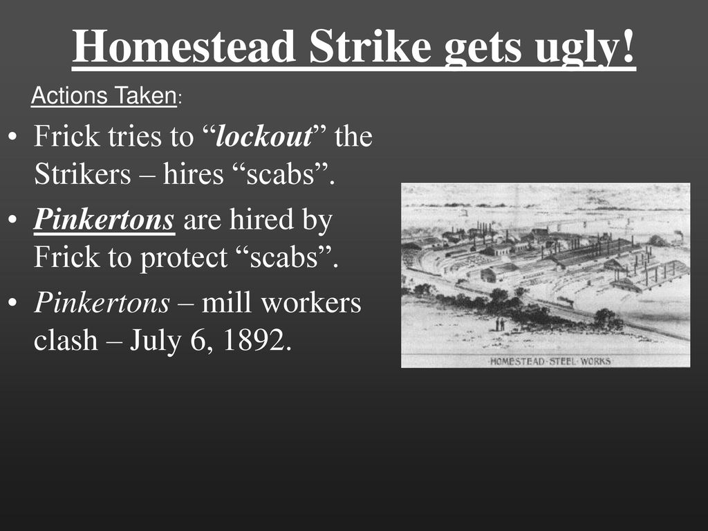 homestead lockout and strike of 1892