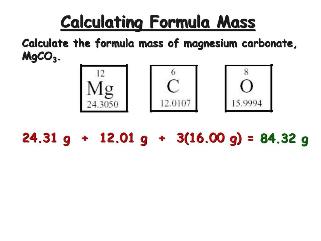 Moles And Formula Mass Ppt Download