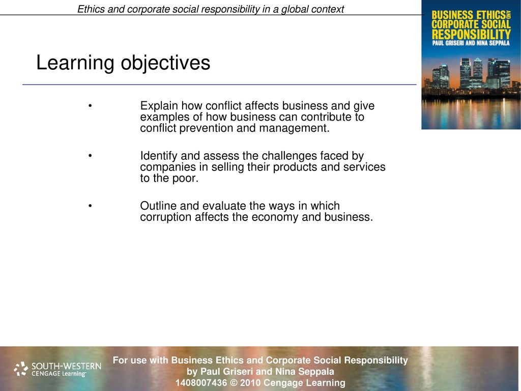 Ethics And Corporate Social Responsibility In A Global Context Ppt