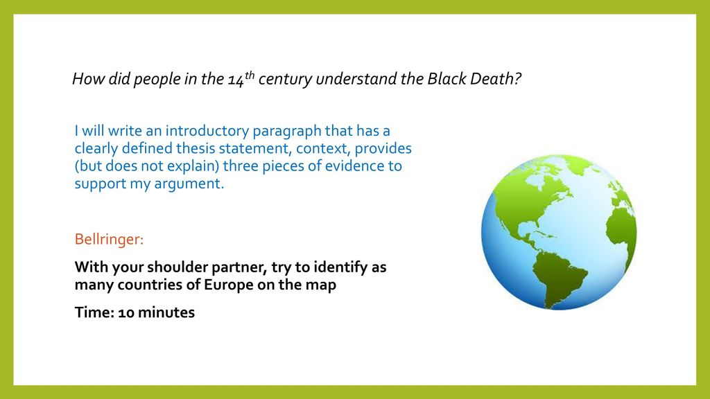 thesis statement for the black death