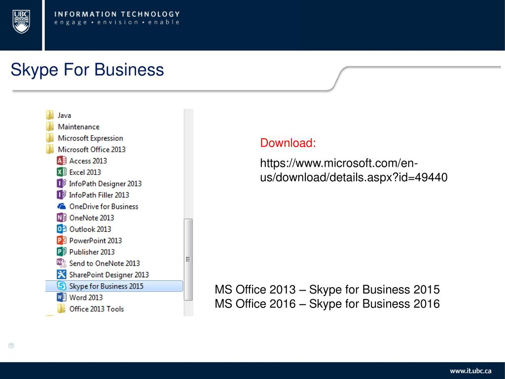Skype For Business  - ppt download