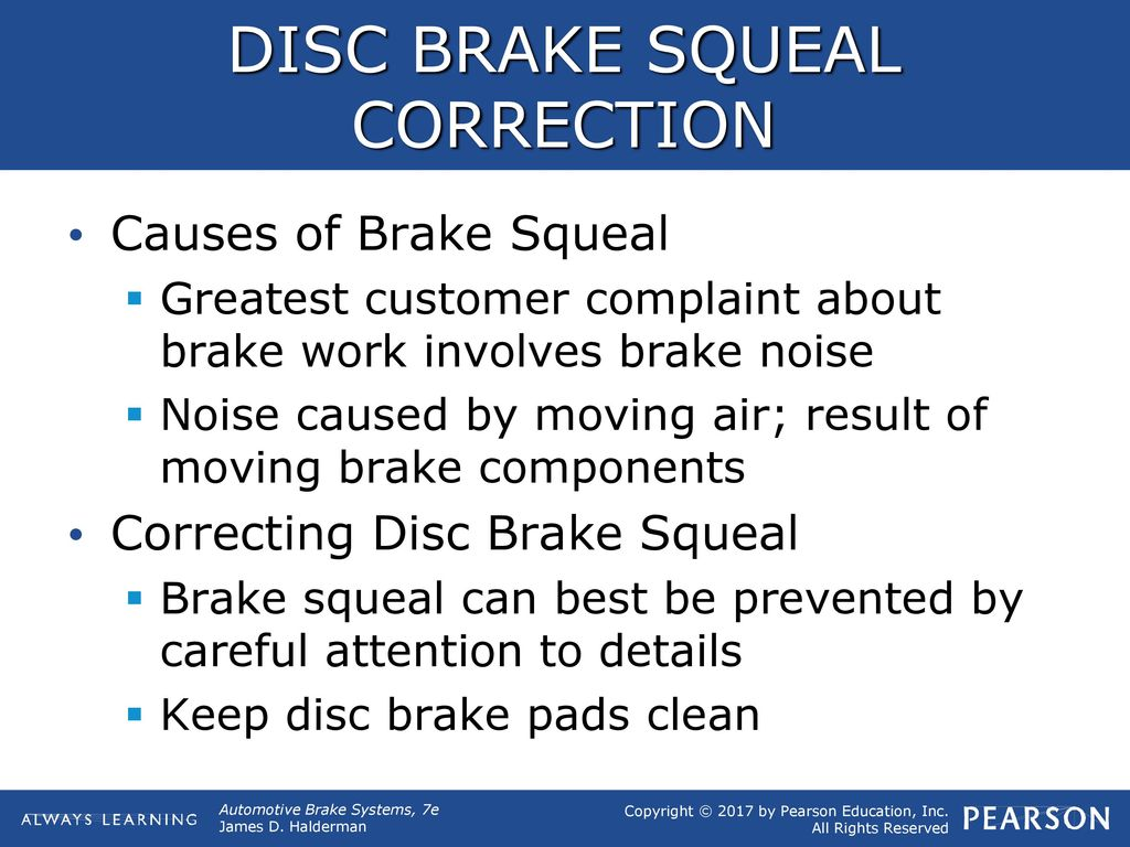 OBJECTIVES Discuss how to diagnose problems with disc brakes