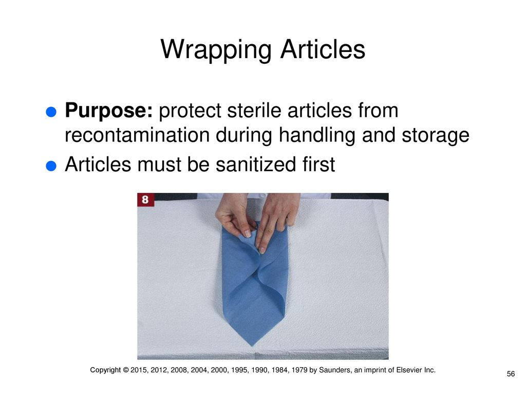 what is the purpose of wrapping articles to be autoclaved