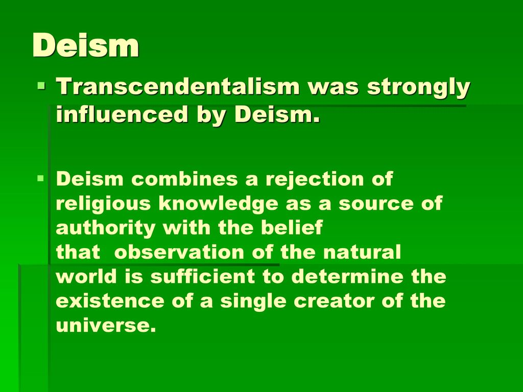 who is the transcendentalists authority