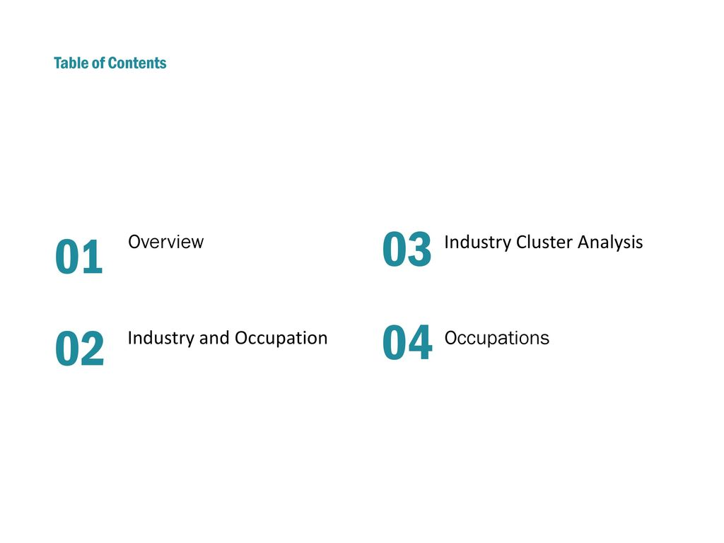 03 01 04 02 Overview Industry Cluster Analysis Industry And Occupation