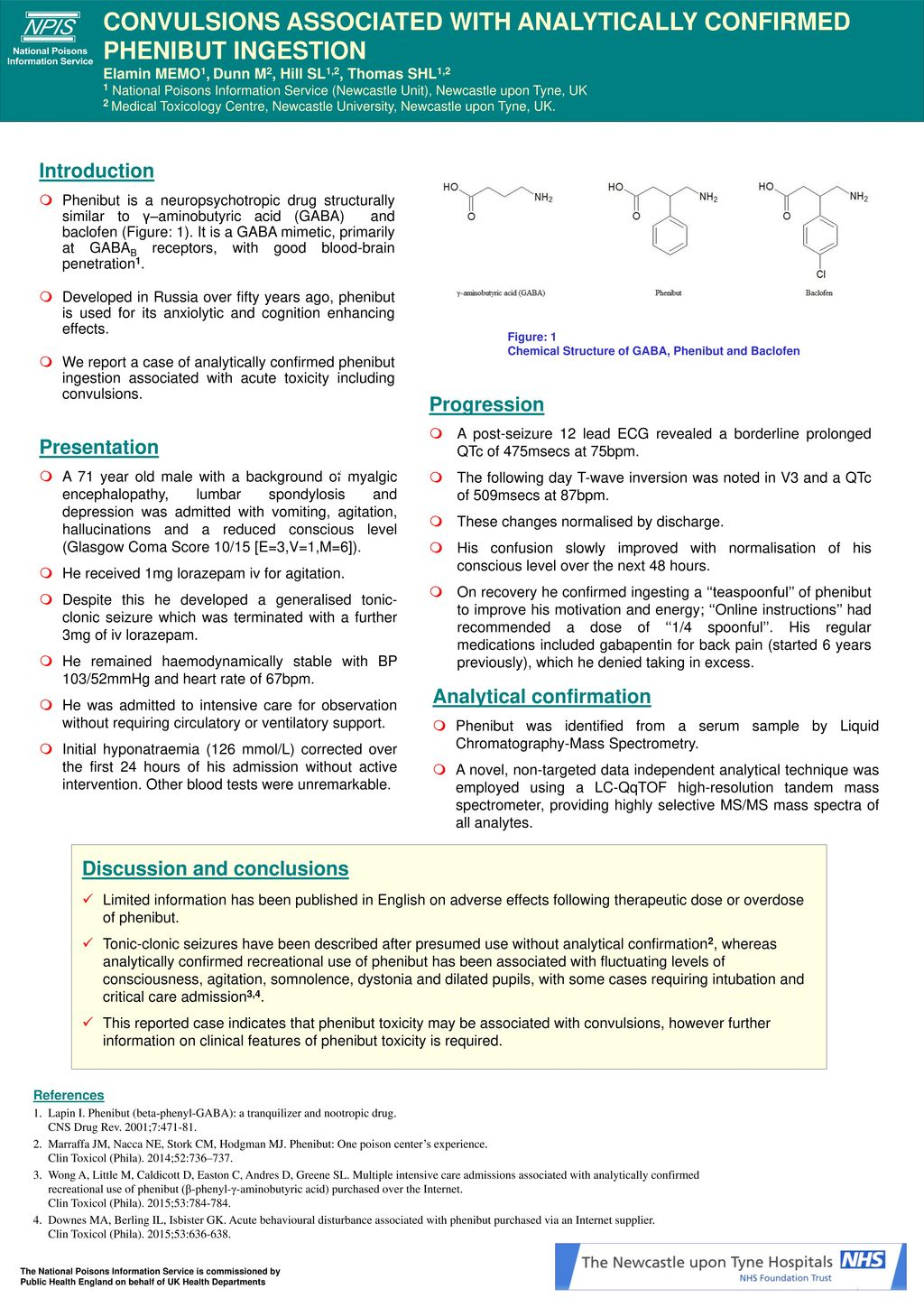 CONVULSIONS ASSOCIATED WITH ANALYTICALLY CONFIRMED PHENIBUT