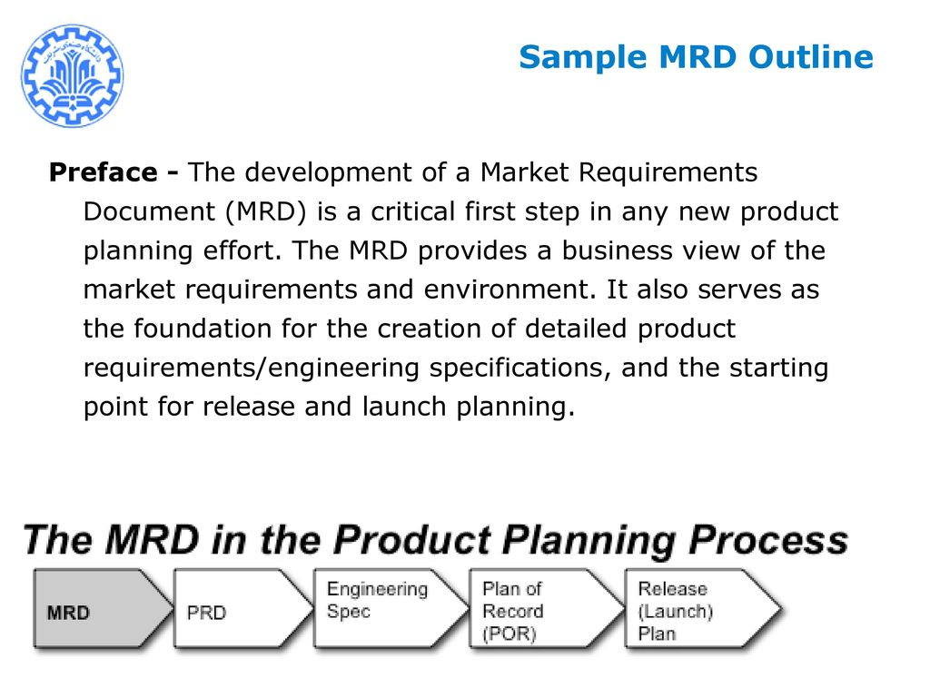 New Product Development Management NPDM Mohsen SADEGHI Ppt Download - Prd product requirements document template
