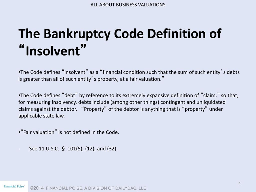 episode 4 – valuation in the context of bankruptcy - ppt download