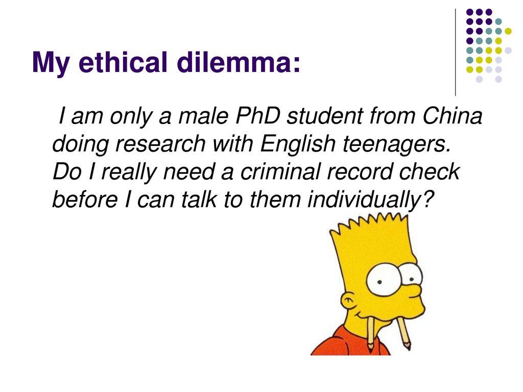 teenage ethical dilemmas
