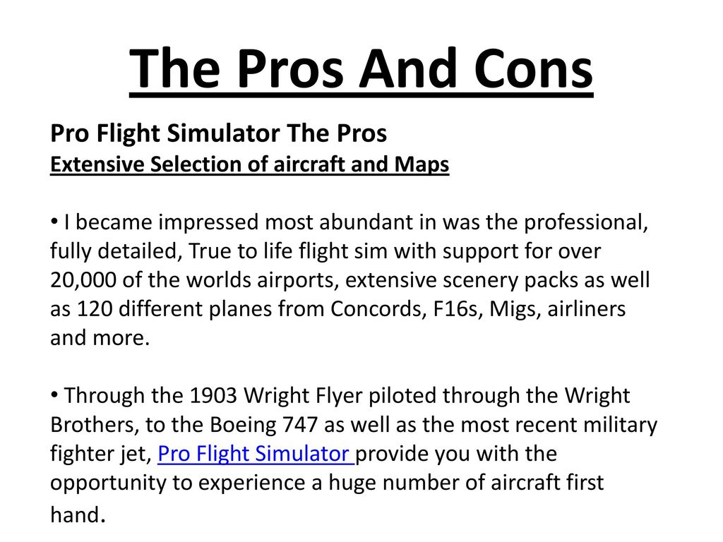 Pro Flight Simulator Honest, Professional Pro Flight