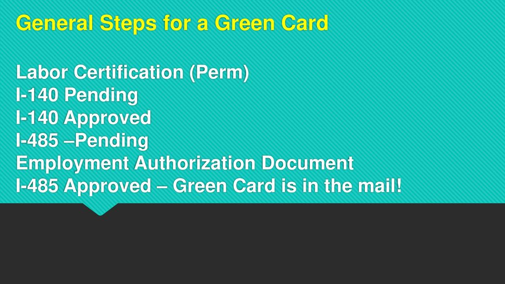 US Permanent Residence - ppt download