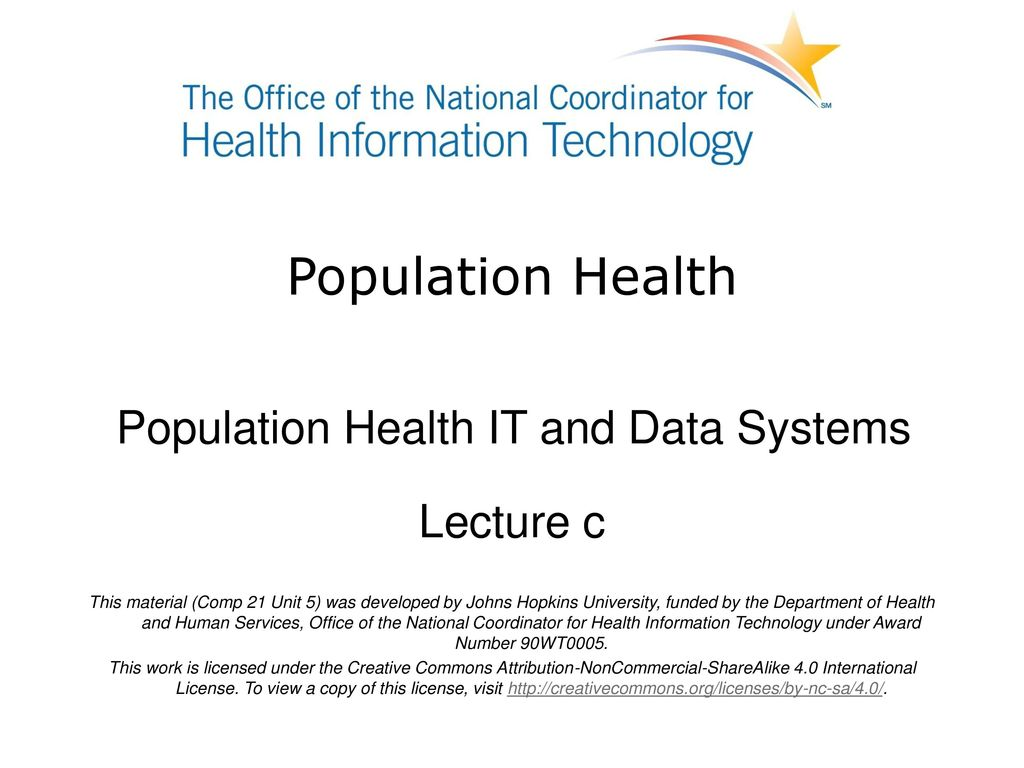 Population Health IT and Data Systems - ppt download