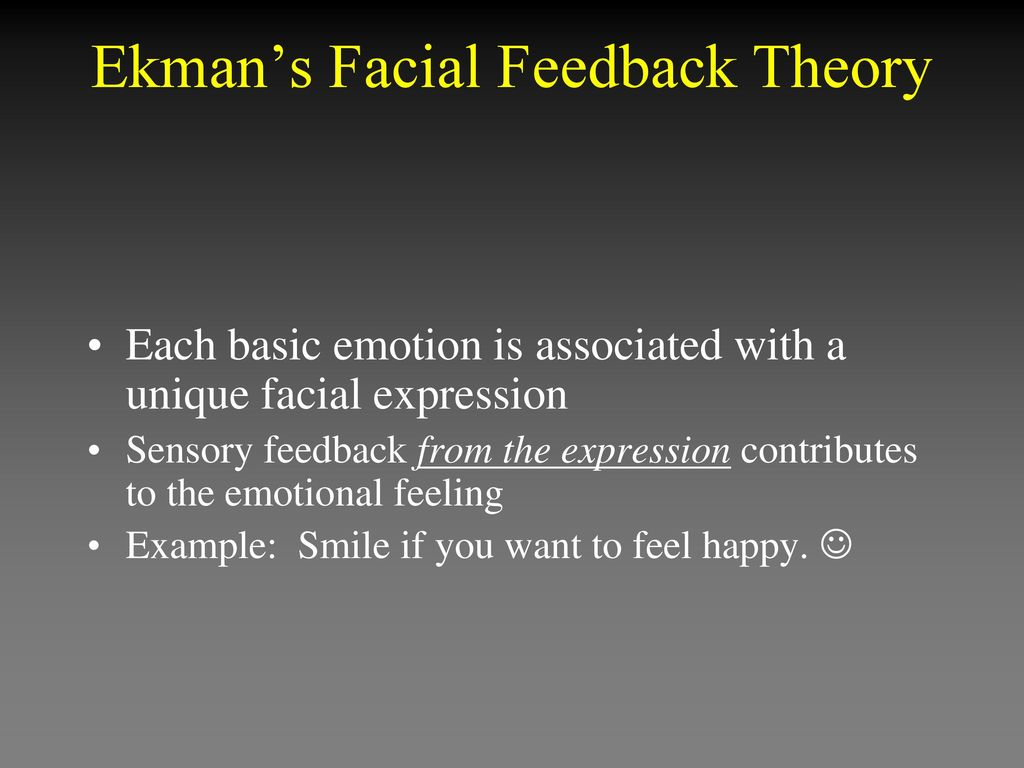 Consider, what ekmans facial feed back theory sorry