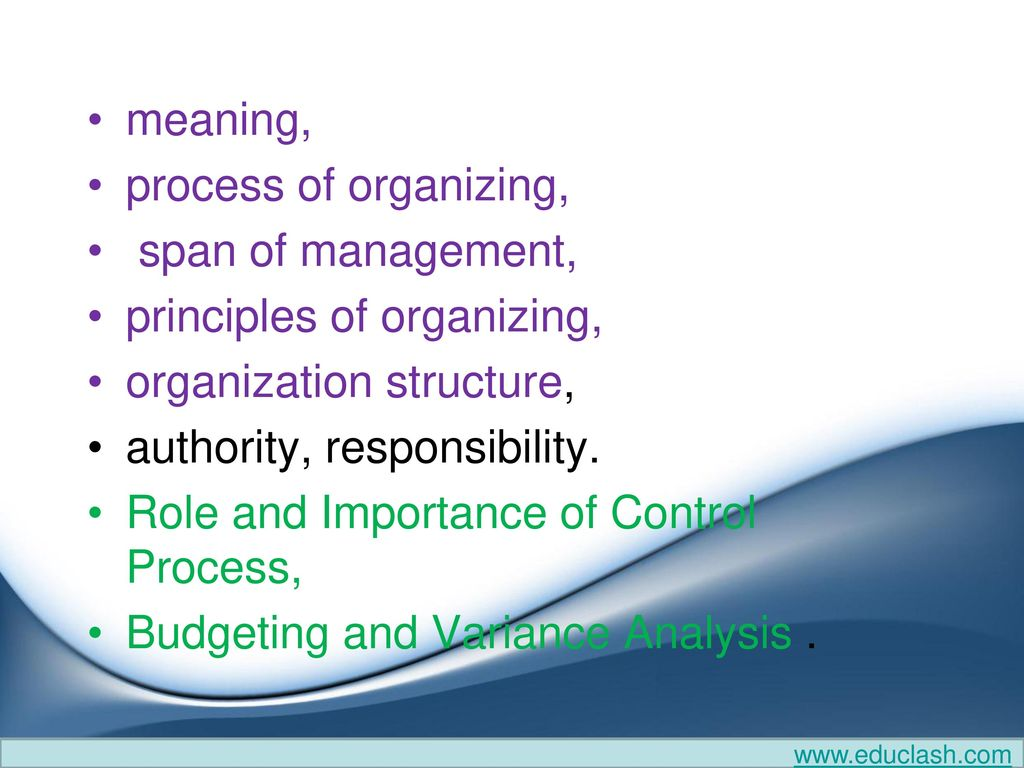 Organization & authority delegation and decentralization - ppt download