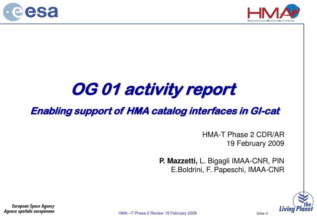 IMAA-CNR activity report - ppt download