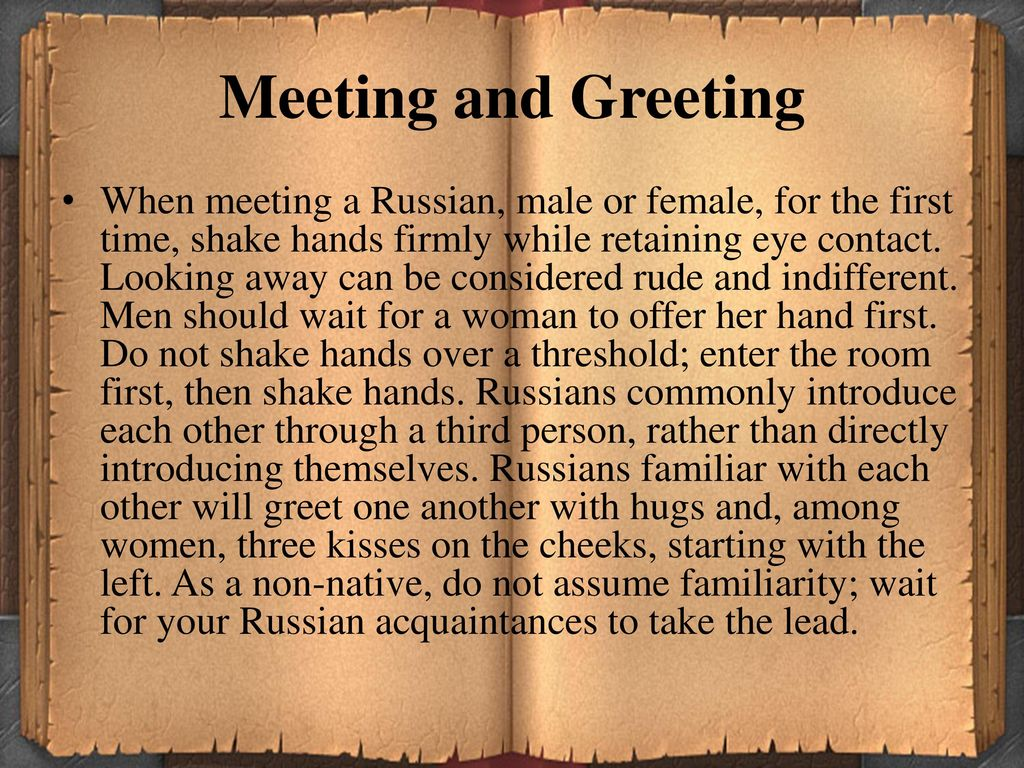 Etiquette In Russia Ppt Download