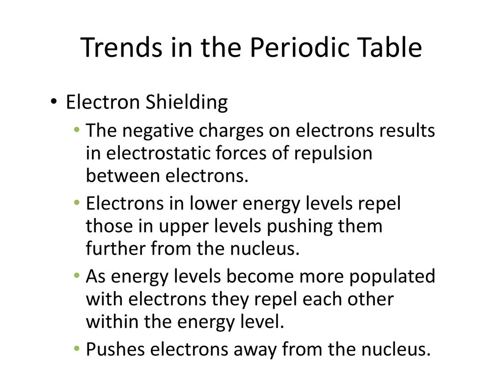 17 trends in the periodic table ppt download trends in the periodic table urtaz Images