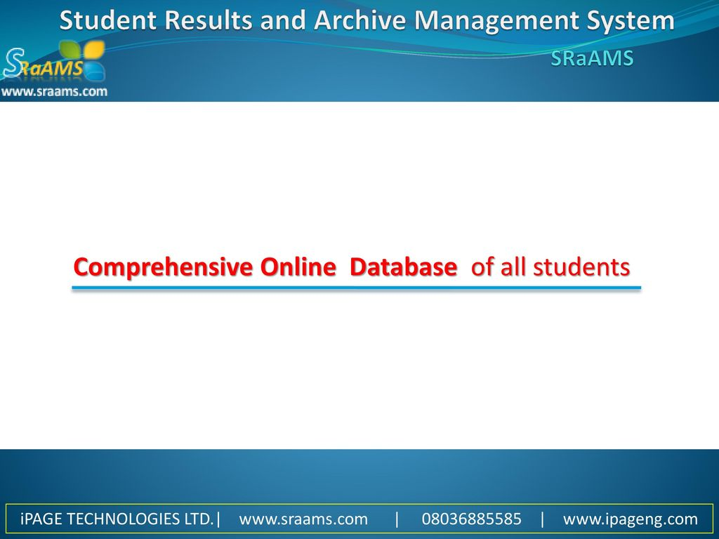 STUDENT RESULTS and ARCHIVE MANAGEMENT SYSTEM - ppt download