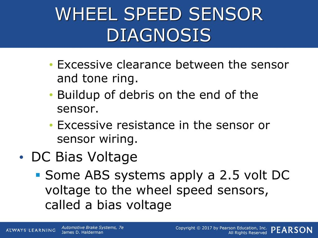 Objectives Explain The Abs Diagnostic Procedure And Brake Speed Sensor Wiring Wheel Diagnosis