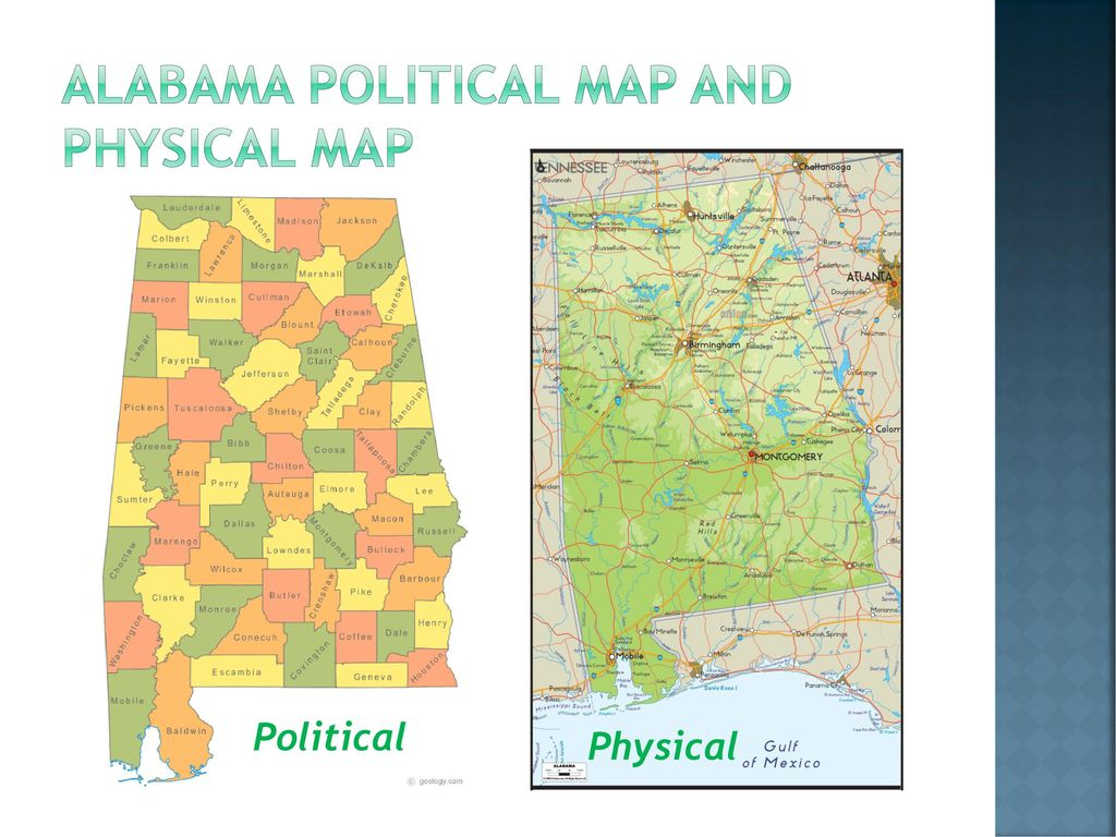 Political Map Of Alabama.There Are Many Kinds Of Maps Ppt Download