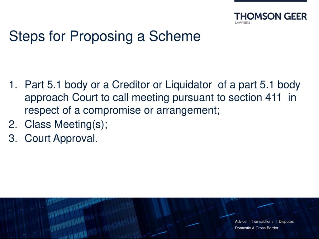 Steps For Proposing A Scheme
