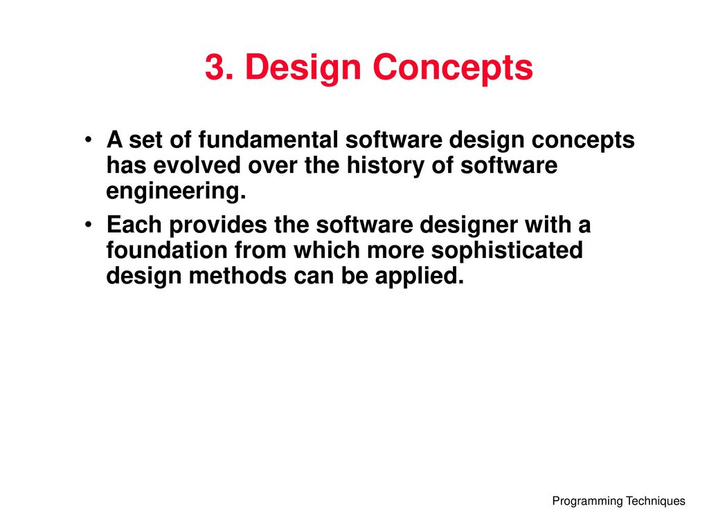 which of the following can be fundamental software design concepts