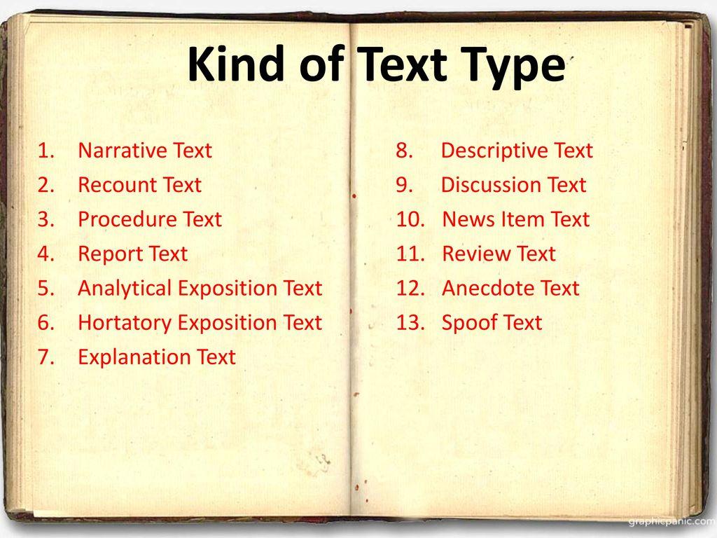 descriptive text explanation