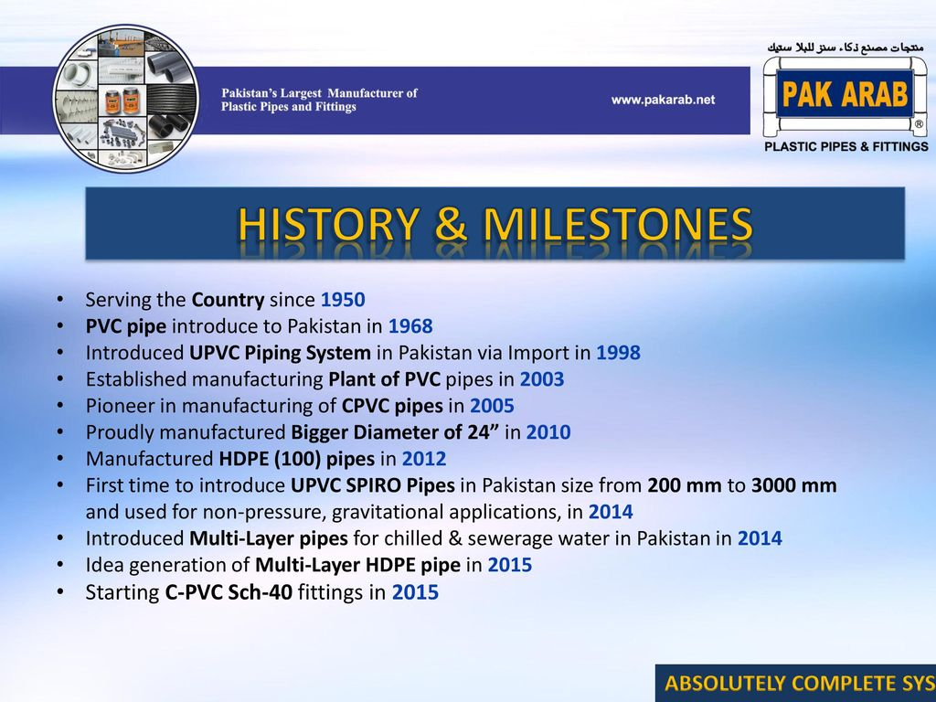 Pakistan's Largest Manufacturer of Pipes & Fittings - ppt