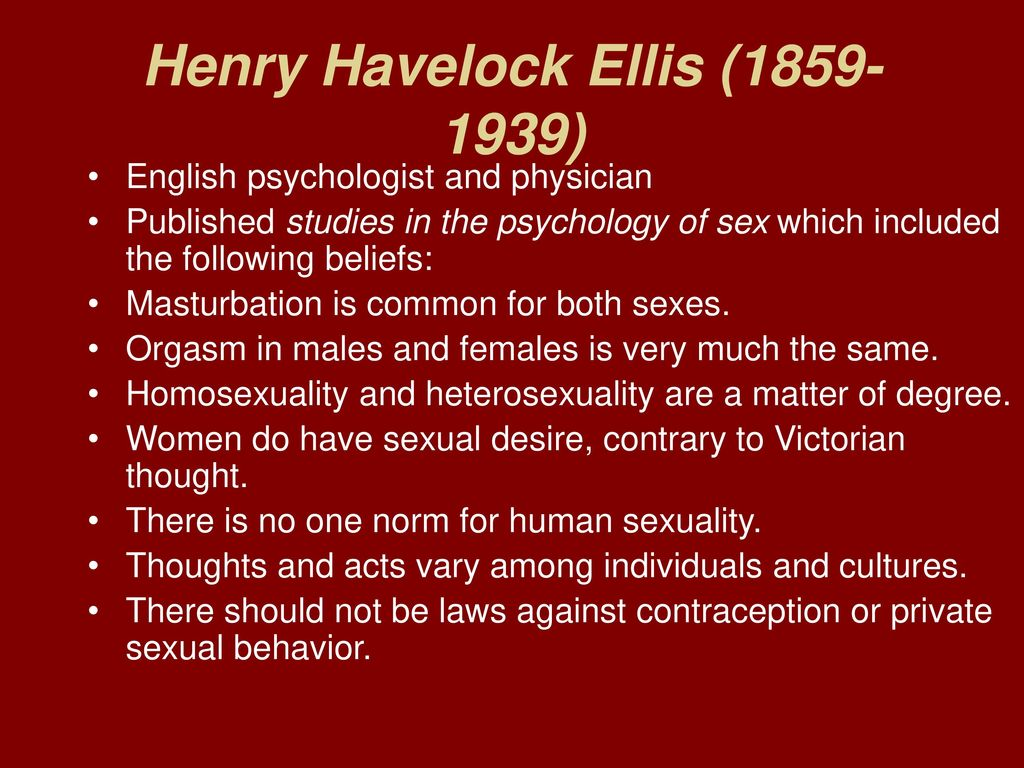 Henry havelock ellis sexuality theory