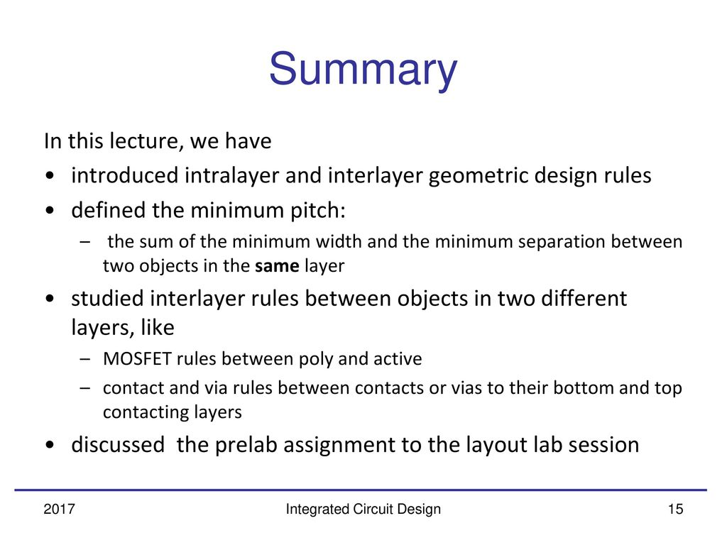 Geometric Design Rules Ppt Download Definition Integrated Circuit