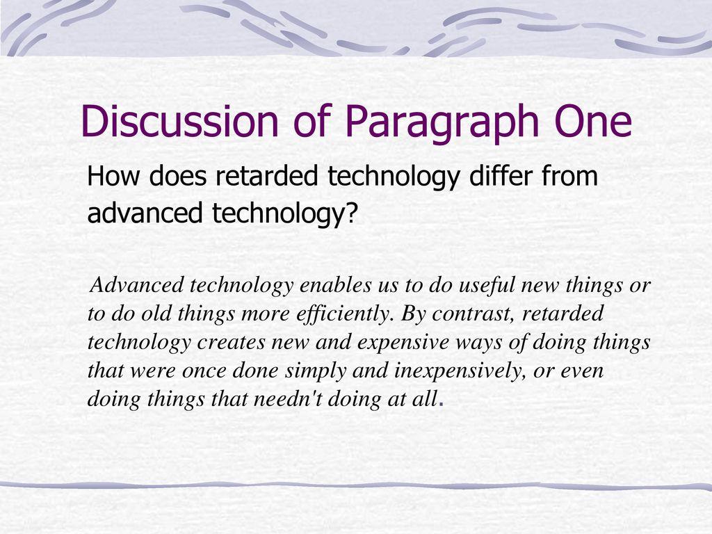 technology paragraph