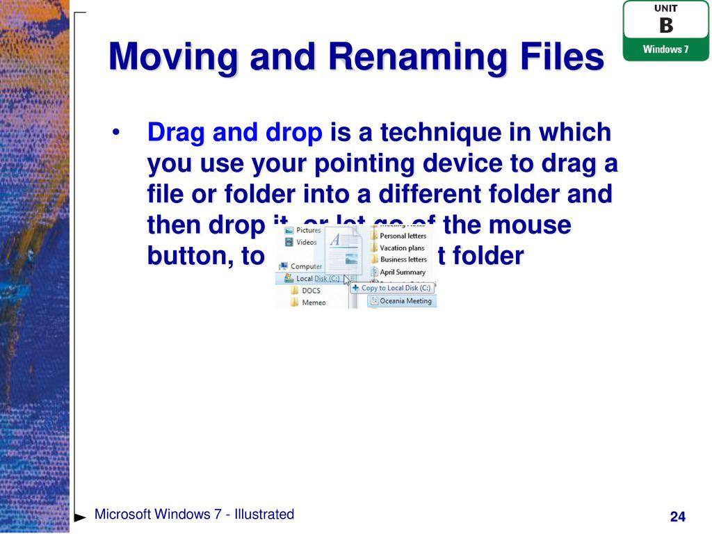 Microsoft Windows 7 - Illustrated - ppt download