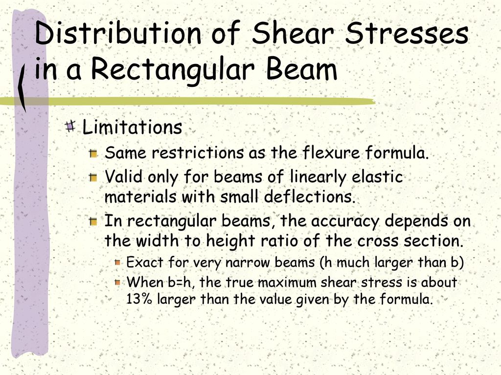 Shear In Straight Members Formula Stresses Beams Beam Formulas With And Moment Diagrams Distribution Of A Rectangular