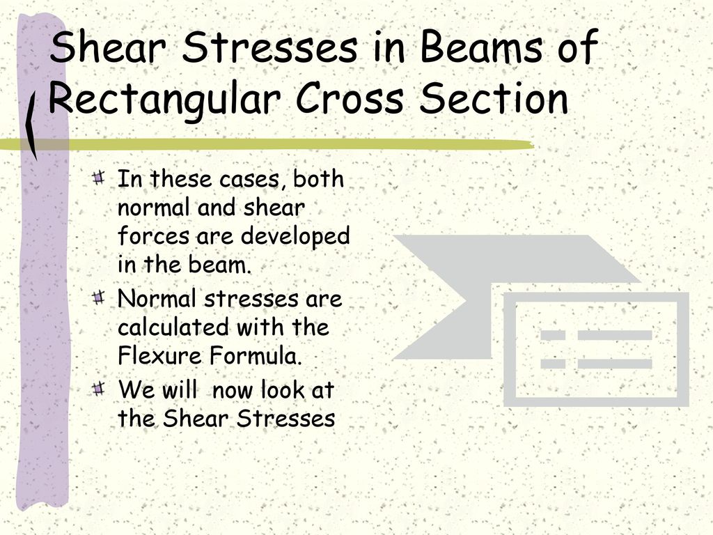 Shear In Straight Members Formula Stresses Beams Beam Formulas With And Moment Diagrams Of Rectangular Cross Section