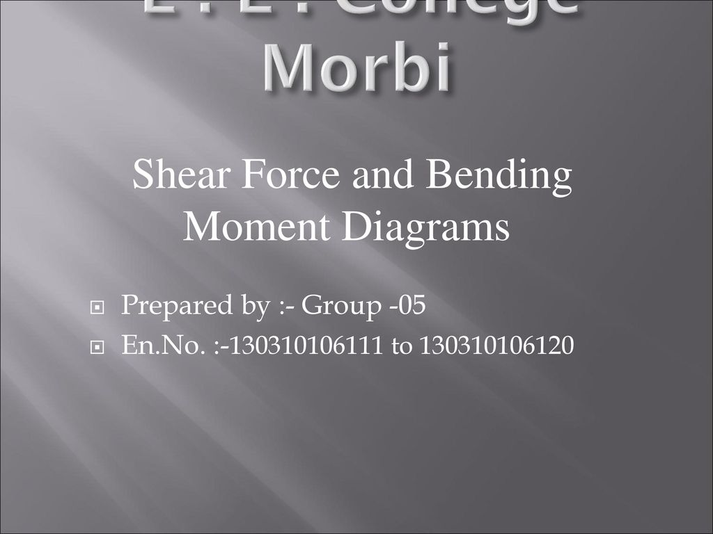 Shear Force And Bending Moment Diagrams Ppt Download