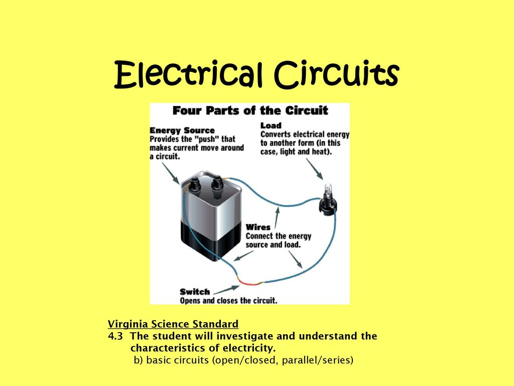 Science Electricity Simple Circuit Battery Fundamental Photographs