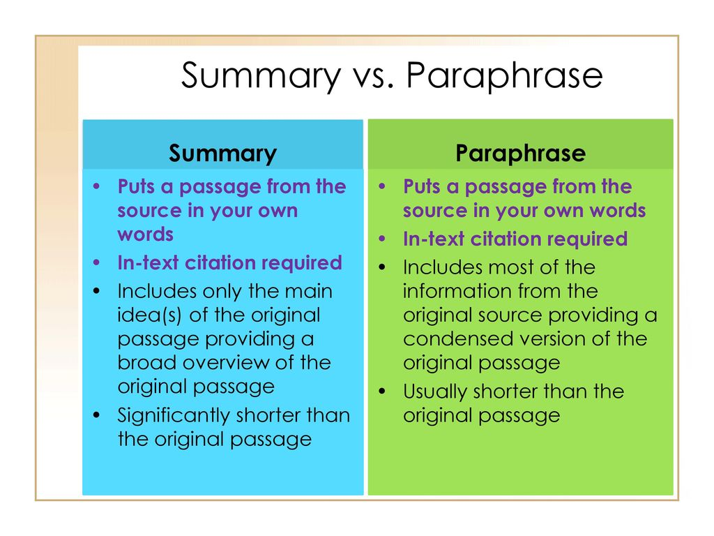 Research Skill 2 Mla In Text Citation Ppt Download A Paraphrase Condense Information From Source