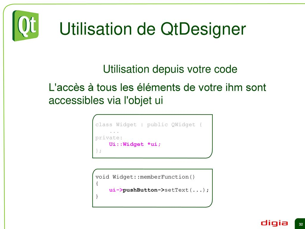 Qt in Education Widgets et Layouts - ppt download